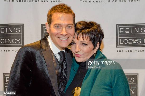"""Michael Feinstein and Liza Minnelli attend """"A Gershwin Holiday"""" opening night at Feinstein's at Loews Regency Ballroom on November 27, 2012 in New..."""