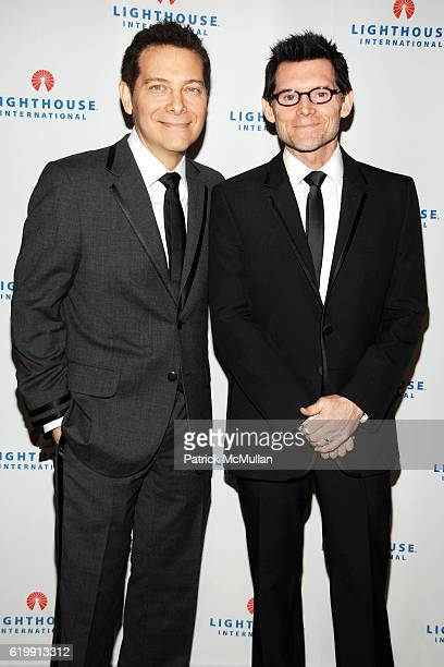 Michael Feinstein and Terrence Flannery attend LIGHT YEARS LIGHTHOUSE INTERNATIONAL Salutes the Arts at Cipriani 42nd Street on October 20 2008 in...