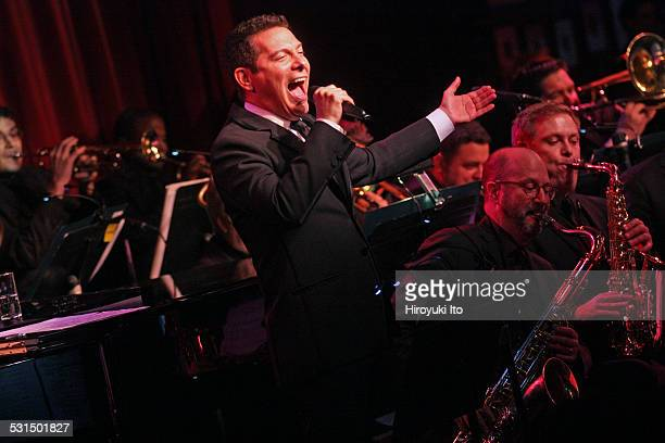 Michael Feinstein performing with his big band at Birdland on Tuesday night, December 16, 2014.