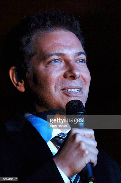Michael Feinstein performs at the Anne Frank 75th Birthday Tribute at Pier 60 Chelsea Piers on June 7 2005 in New York City
