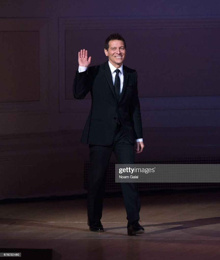 Michael Feinstein performs during a tribute concert honoring Jimmy Webb at Carnegie Hall on May 3, 2017 in New York City.