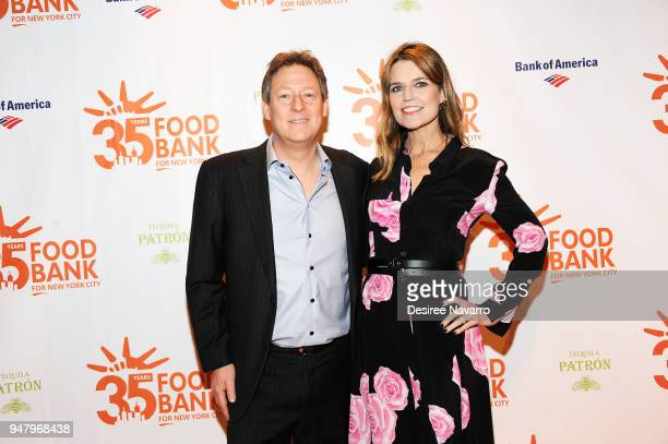 Michael Feldman and Savannah Guthrie attend the 2018 Food Bank For New York City's Can Do Awards Dinner at Cipriani Wall Street on April 17 2018 in...