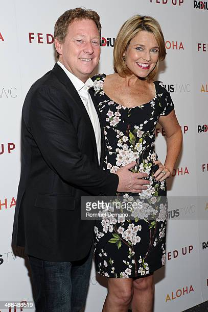Michael Feldman and Savannah Guthrie attend the Fed Up premiere at Museum of Modern Art on May 6 2014 in New York City