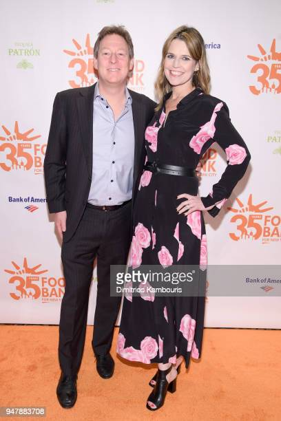 Michael Feldman and Savannah Guthrie attend the Food Bank for New York City's Can Do Awards Dinner at Cipriani Wall Street on April 17 2018 in New...