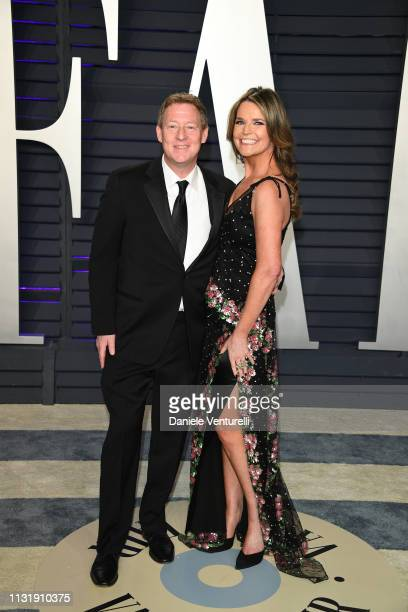 Michael Feldman and Savannah Guthrie attends 2019 Vanity Fair Oscar Party Hosted By Radhika Jones at Wallis Annenberg Center for the Performing Arts...
