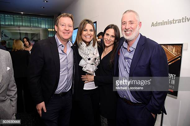 Michael Feldman Savannah Guthrie Amy Koppelman and Brian Koppelman attend the Showtime series premiere of Billions at The New York Museum Of Modern...