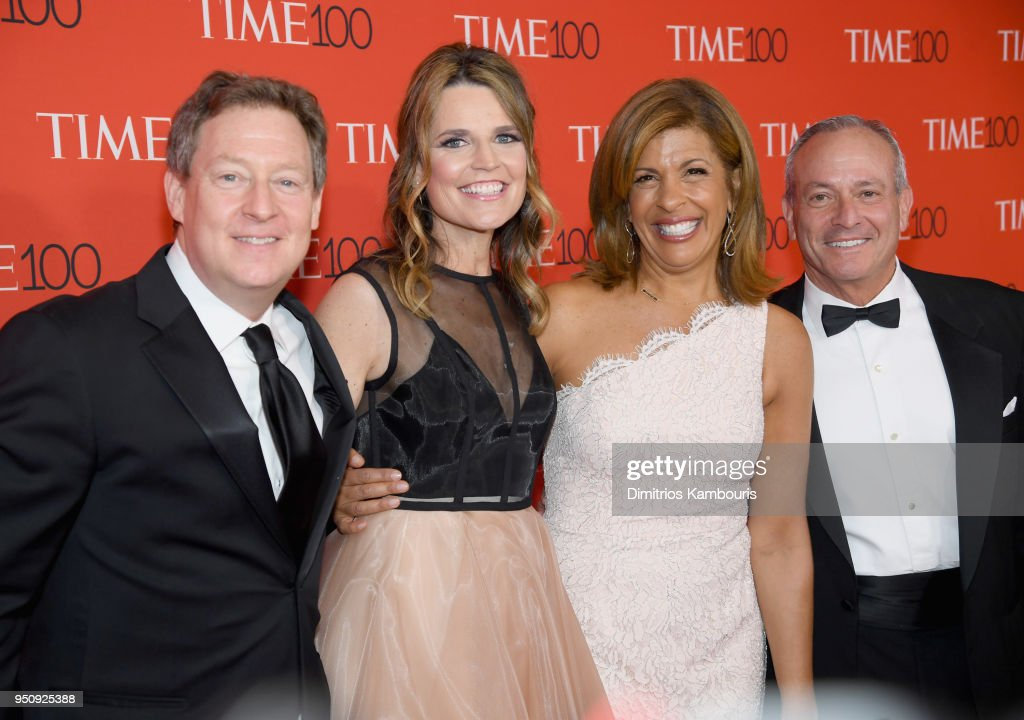 Michael Feldman, Savannah Guthrie, Hoda Kotb and Joel Schiffman attend the 2018 Time 100 Gala at Jazz at Lincoln Center on April 24, 2018 in New York City.