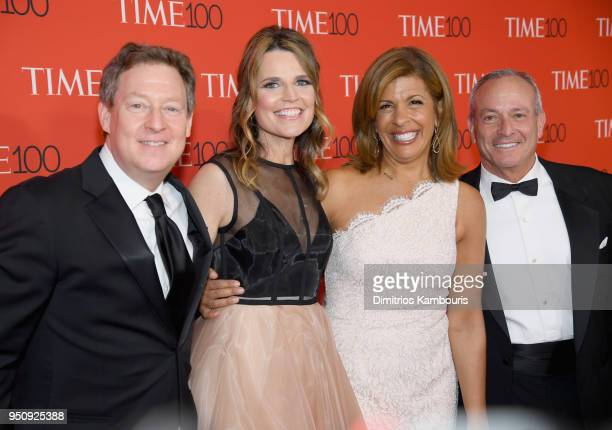 Michael Feldman Savannah Guthrie Hoda Kotb and Joel Schiffman attend the 2018 Time 100 Gala at Jazz at Lincoln Center on April 24 2018 in New York...