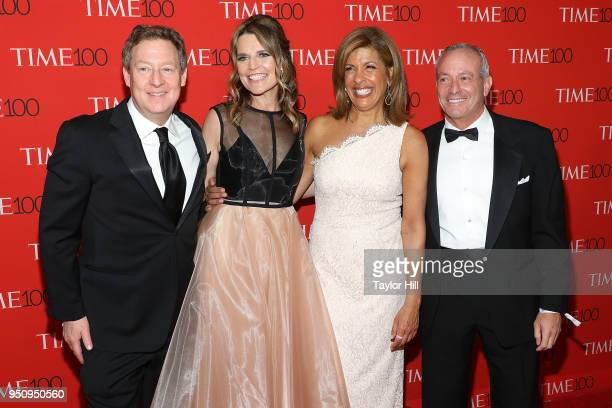Michael Feldman Savannah Guthrie Hoda Kotb and Joel Schiffman attend the 2018 Time 100 Gala at Frederick P Rose Hall Jazz at Lincoln Center on April...