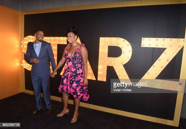 Michael Ferguson and showrunner Courtney Kemp attend STARZ 'Power' Season 4 LA Screening And Party at The London West Hollywood on June 23 2017 in...