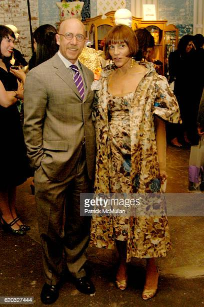 Michael Fink and Lori Newhouse attend Photographers For Friends A Benefit for Friends In Deed at West 15th St on June 18 2008 in New York City