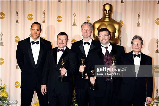 Michael Fink Bill Westenhofer Ben Morris and Trevor Wood Achievement in Visual effects for 'The Golden Compass' in Los Angeles United States on...