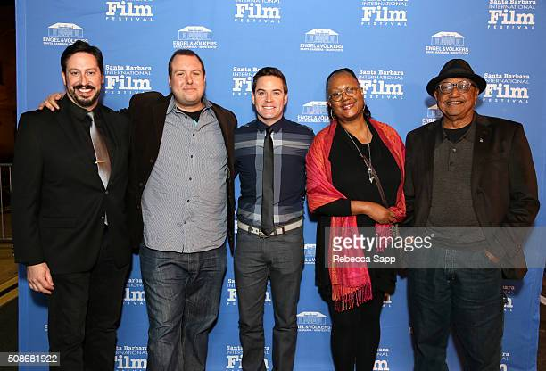 Michael Fiore Eric Sharkey Ryan Shore Adrienne Brown Norman and Floyd Norman attend the American Riviera Award at the Arlington Theater at the 31st...