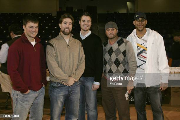 Michael Fisher, R.A. Dickey, Tim Dillard, Tim McGraw and David Price attend the Life Lessons from Baseball fundraiser at the Allen Arena at Lipscomb...