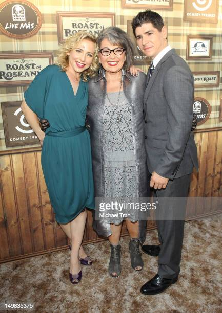 Michael Fishman Alicia Goranson and Roseanne Barr arrive at the Comedy Central Roast of Roseanne Barr held at Hollywood Palladium on August 4 2012 in...