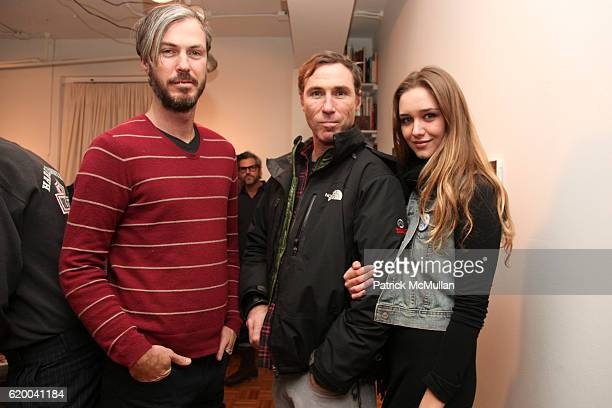 Michael Fitz, Joel Fitzpatrick and Victoria Stutterheim attend RUFFIAN Gallery Launch Featuring Paintings by NICK WEBER at 306 West 38th St on...