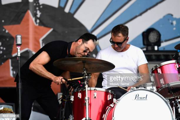 Michael Fitzpatrick and John Wicks of Fitz and the Tantrums perform during Pilgrimage Music Cultural Festival on September 24 2017 in Franklin...