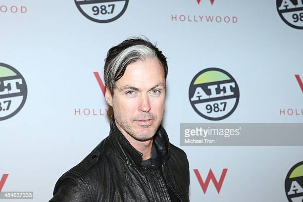 Michael Fitzpatrick of Fitz and the Tantrums attends The ALTimate Rooftop Christmas party held at W Hollywood on December 9 2013 in Hollywood...