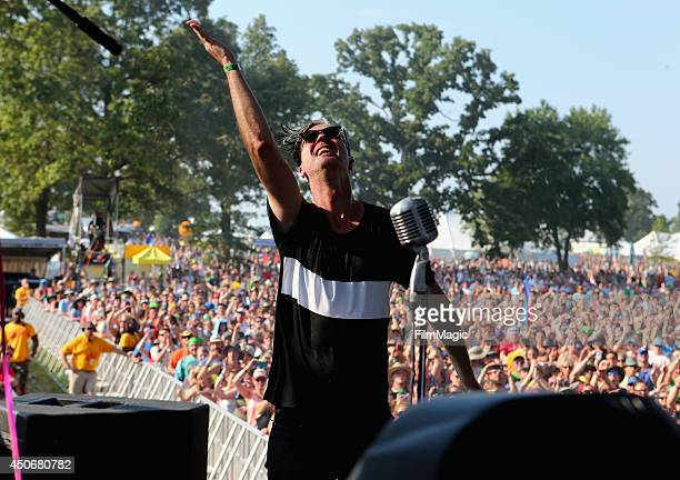 Michael Fitzpatrick of Fitz and The Tantrums performs at Which Stage during day 4 of the 2014 Bonnaroo Arts And Music Festival on June 15 2014 in...