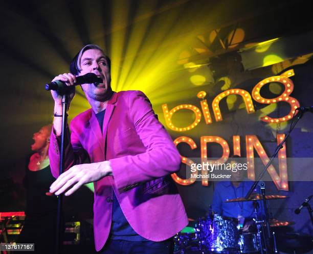 Michael Fitzpatrick of Fitz and the Tantrums performs during SPIN Sessions presented by Bing at Bing Bar on January 23 2012 in Park City Utah