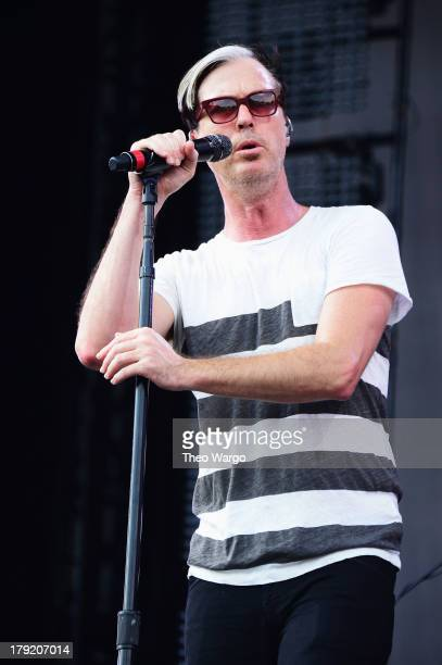 Michael Fitzpatrick of Fitz and The Tantrums performs during the 2013 Budweiser Made In America Festival at Benjamin Franklin Parkway on September 1...