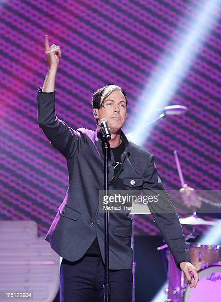 Michael Fitzpatrick of Fitz and The Tantrums performs onstage during the 2013 Do Something Awards held at Avalon on July 31 2013 in Hollywood...