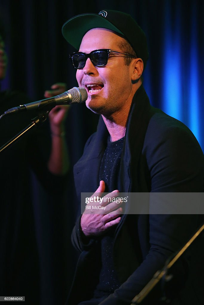 Michael Fitzpatrick of the band Fitz And The Tantrums performs at Radio 104.5 Performance Theater November 12, 2016 in Bala Cynwyd, Pennsylvania.