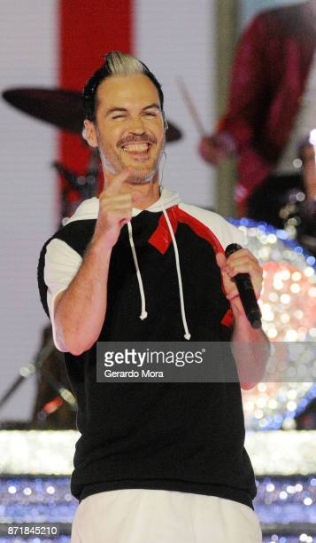 Michael Fitzpatrick of the Fitz and the Tantrums performs during the taping of 'The Wonderful World Of Disney Magical Holiday Celebration' at Walt...