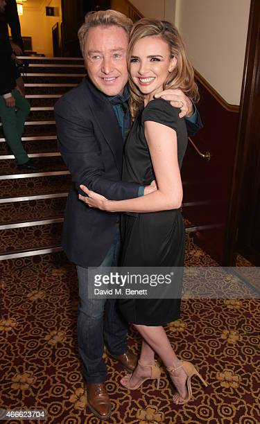Michael Flatley and Nadine Coyle attend the after party following the Gala Performance of Lord Of The Dance Dangerous Games at The Dominion Theatre...
