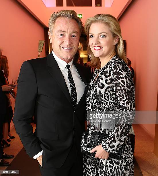 Michael Flatley and Niamh Flatley attend the She Inspires Art charity auction in aid of Women For Women International at Bonhams on September 16 2015...