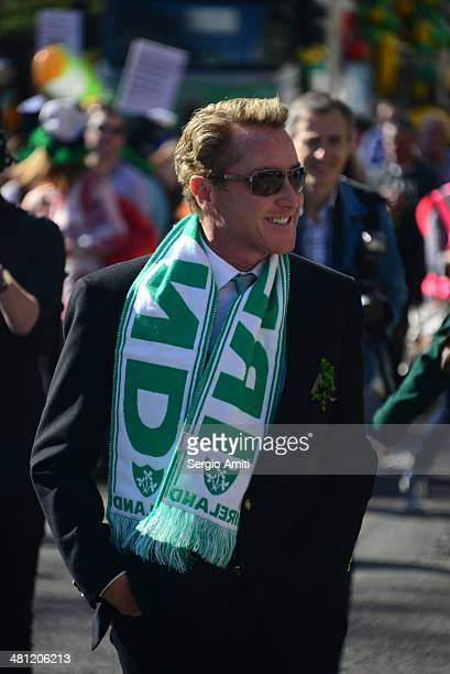 Michael Flatley at the Saint Patrick's Day Parade in London
