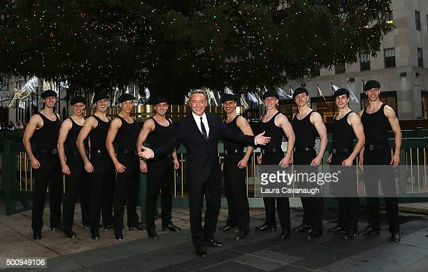 Michael Flatley attends Lord Of The Dance Dangerous Games Cast visits The Tree At Rockefeller Center at Rockefeller Center on December 11 2015 in New...
