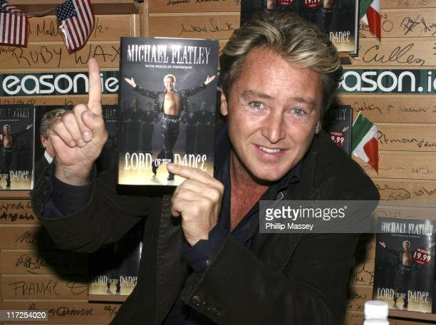 Michael Flatley during Michael Flatley Signs Copies of His Book Lord of the Dance April 21 2006 at Eason Bookstore in Dublin Ireland