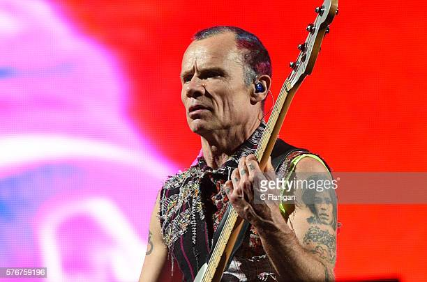 Michael 'Flea' Balzary of the Red Hot Chili Peppers performs during the 2016 Festival D'ete De Quebec on July 16 2016 in Quebec City Canada