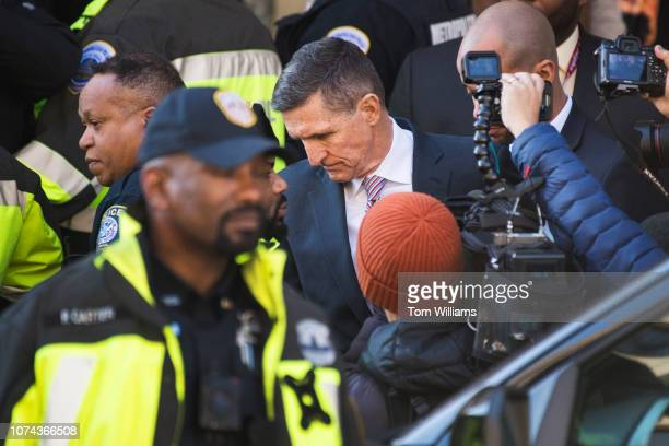 Michael Flynn former national security adviser leaves the E Barrett Prettyman Courthouse after a federal judge delayed his sentencing on December 18...