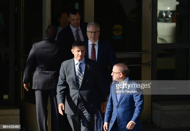 Michael Flynn former national security advisor to President Donald Trump leaves following his plea hearing at the Prettyman Federal Courthouse on...