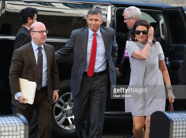 Michael Flynn former national security advisor to President Donald Trump arrives at the E Barrett Prettyman Federal Courthouse for a status hearing...