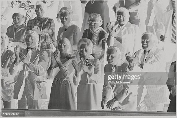 Michael Ford Susan Ford Mrs Pat Nixon General Alexander Haig and Presidential legislative aide William Timmons applaud as Gerald Ford is sworn in as...