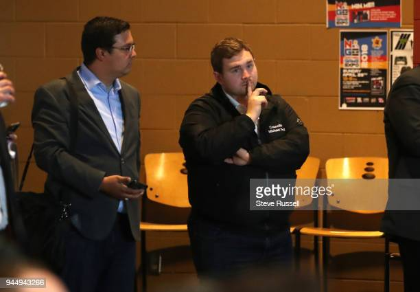 Michael Ford watches his uncle PC Leader Doug Ford skips the Provincial Leaders debate hosted by the Black Community to campaign in Northern Ontario...