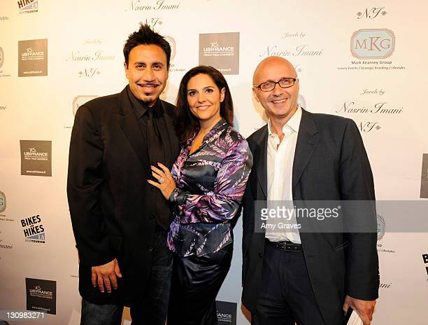 Michael Foroutan Kathy Zahedi and Gilles Amsallem attend the Jewels of France Event with UbiFrance Jewels by Nasrin Imani and Celebrity Chef Mark...