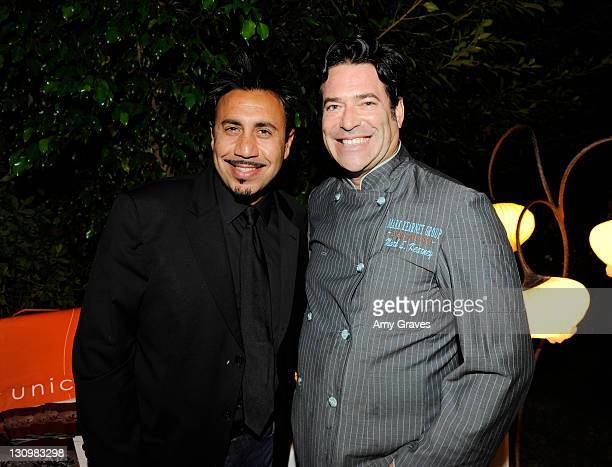 Michael Foroutan of Unici and celebrity chef Mark Kearney attend the Jewels of France Event with UbiFrance Jewels by Nasrin Imani and Celebrity Chef...