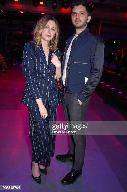 Michael Fox and Laura Carmichael wearing Paul Smith attend the Paul Smith AW18 Men's and Women's Show on January 21 2018 in Paris France