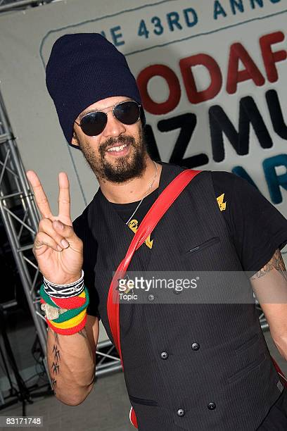 Michael Franti arrives at the Vodafone New Zealand Music Awards 2008 at Vector Arena on October 8 2008 in Auckland New Zealand The 2008 awards known...