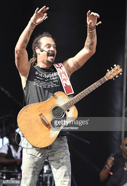 Michael Franti of Michael Franti Spearhead performs during the Tortuga Music Festival on April 17 2016 in Fort Lauderdale Florida