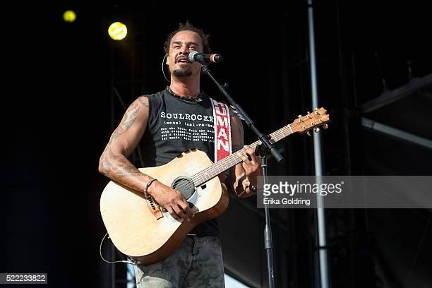 Michael Franti of Michael Franti Spearhead performs on April 17 2016 in Fort Lauderdale Florida