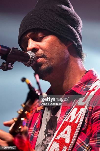 Michael Franti performs at the 25th Annual Warren Haynes Christmas Jam at US Cellular Center on December 14, 2013 in Asheville, North Carolina.