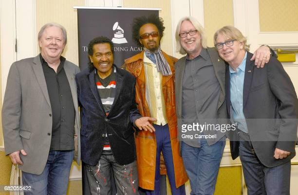 Michael Freeman Bobby Rush Fantastic Negrito Ken Sheperd and Jon Hornyak at a recption celebrating the Blues Music Awards at Sheraton Memphis...