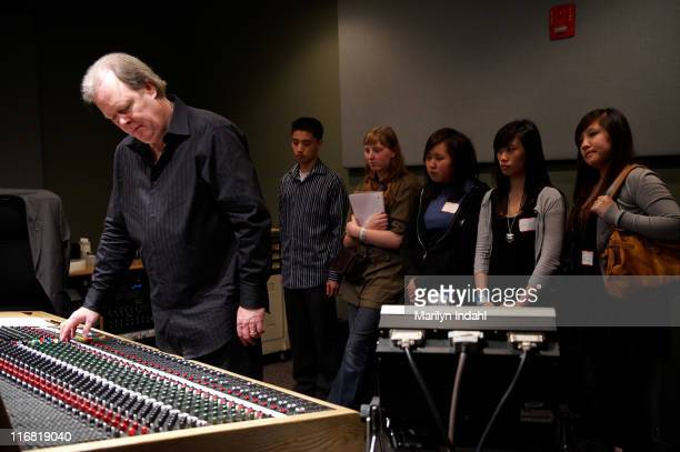Michael Freeman demonstrates classic recording techniques during GRAMMY Career Day on May 7, 2008 at McNally Smith College in St. Paul, Minnesota.