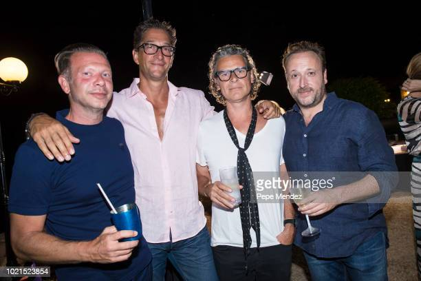 Michael Freund Matthew Stillman George Waud and Mark Holyoake attend Ibiza Preservation Foundation 10th Anniversary Party at Los Olivos estate on...