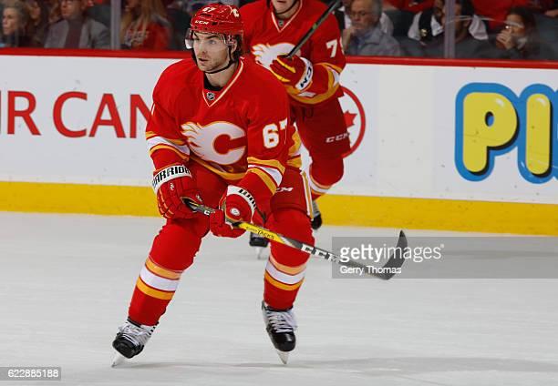 Michael Frolik of the Calgary Flames skates against the New York Rangers at Scotiabank Saddledome on November 12 2016 in Calgary Alberta Canada